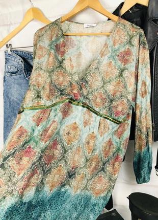 Блуза - рубашка оверсайз с глубоким v-образным вырезом3 фото
