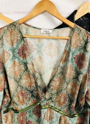 Блуза - рубашка оверсайз с глубоким v-образным вырезом5 фото