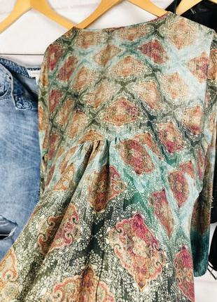 Блуза - рубашка оверсайз с глубоким v-образным вырезом9 фото