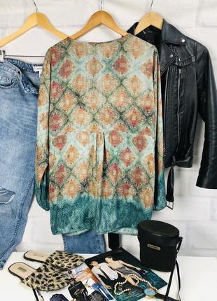 Блуза - рубашка оверсайз с глубоким v-образным вырезом7 фото
