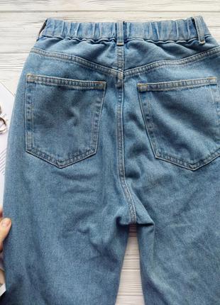 Голубые винтажные джинсы джинси мом мам mom fit pull&bear10 фото