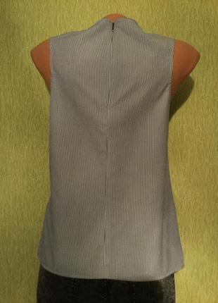 Блузка хлопковая в полоску с декоративным бантом next размер 6/84 фото