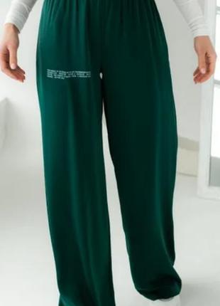 Широкие брюки летние на резинке