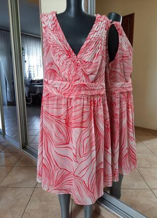 Нежное воздушное на подкладке платье 👗большого размера