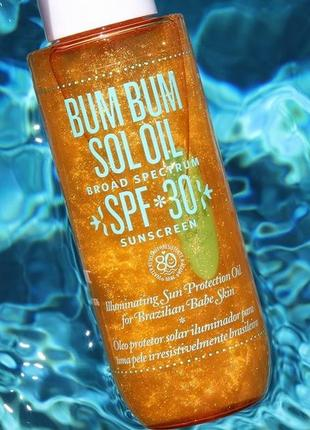 Масло для  загара  bum bum sol spf30 oil  от sol de janeiro