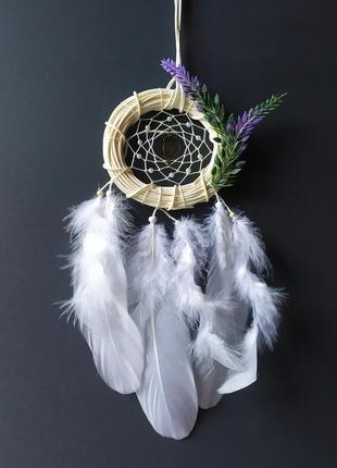 Белоснежный ловец снов на подарок. декор, оберег.