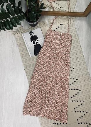 Міді плаття в квітковий принт на ґудзиках від new look🌿