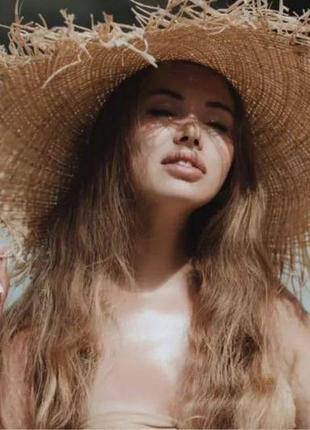 Соломеная шляпа . летняя шляпка7 фото