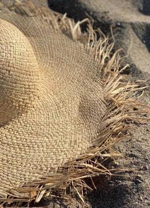 Соломеная шляпа . летняя шляпка5 фото