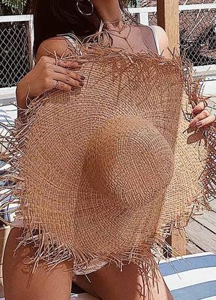 Соломеная шляпа . летняя шляпка6 фото