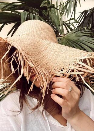 Соломеная шляпа . летняя шляпка3 фото