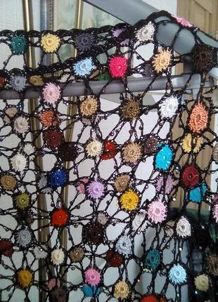 Накидка плетенная