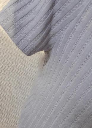 Кроп топ топик яркий короткий голые открытые плечи трикотажный лиловый рубчик4 фото