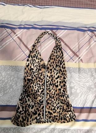Женский топ с леопардовым принтом р.м