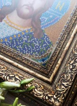 """Иконы бисером """"венчальные"""" (венчальная пара, спаситель и богородица)4 фото"""