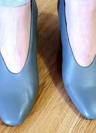 Кожаные туфли m&s новые 6,5 р2 фото