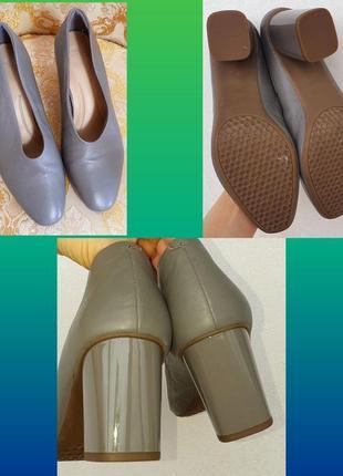 Кожаные туфли m&s новые 6,5 р4 фото