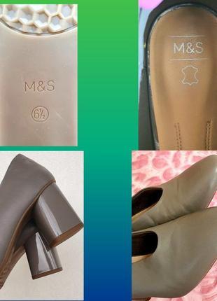 Кожаные туфли m&s новые 6,5 р5 фото