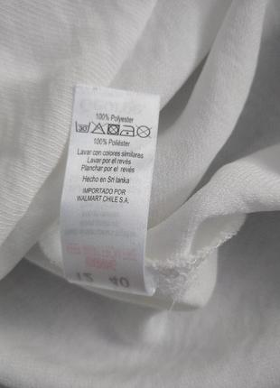 Білосніжна блуза, розмір 125 фото