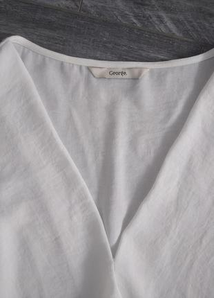 Білосніжна блуза, розмір 122 фото