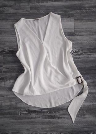 Білосніжна блуза, розмір 121 фото