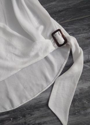 Білосніжна блуза, розмір 124 фото