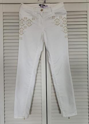 Белые летние штаны, джинсы, xs/s