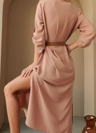 Стильное платье-рубашка5 фото