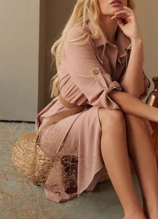 Стильное платье-рубашка3 фото