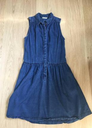 Джинсовое платье promod без рукавов сукня сарафан