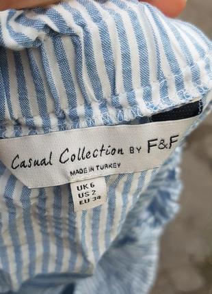 Блуза в полоску f&f3 фото