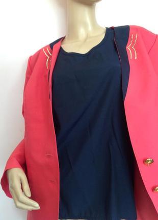 Розовый жакет с маечкой/xl/4 фото