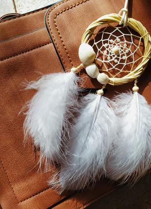 Белый ловец снов оригинальный подарок. декор, оберег.
