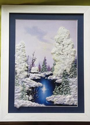 Картина зимний пезаж