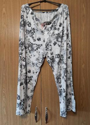 Пижамные домашние штаны, большой размер.