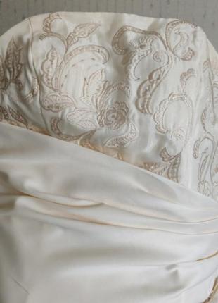 Платья на выпускной свадьба вечерние длинное фатин шелк корсет 💝3 фото