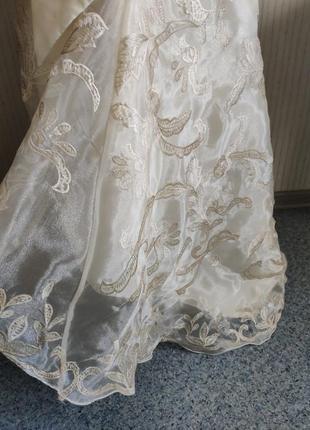 Платья на выпускной свадьба вечерние длинное фатин шелк корсет 💝4 фото