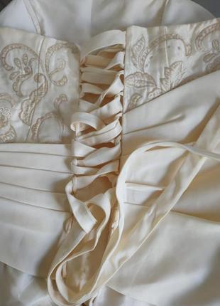 Платья на выпускной свадьба вечерние длинное фатин шелк корсет 💝6 фото