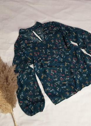 Лёгкая блуза в цветочный принт 𝑷𝒂𝒑𝒂𝒚𝒂