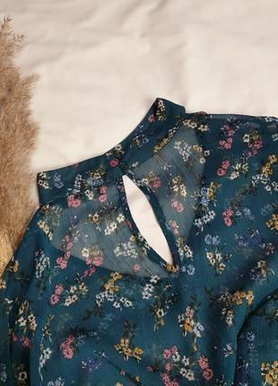 Лёгкая блуза в цветочный принт 𝑷𝒂𝒑𝒂𝒚𝒂5 фото
