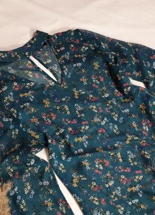 Лёгкая блуза в цветочный принт 𝑷𝒂𝒑𝒂𝒚𝒂3 фото
