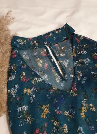 Лёгкая блуза в цветочный принт 𝑷𝒂𝒑𝒂𝒚𝒂6 фото