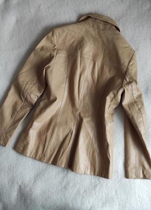 Трендовый натуральный кожаный пиджак куртка4 фото