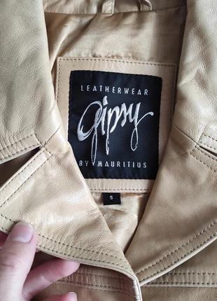 Трендовый натуральный кожаный пиджак куртка2 фото