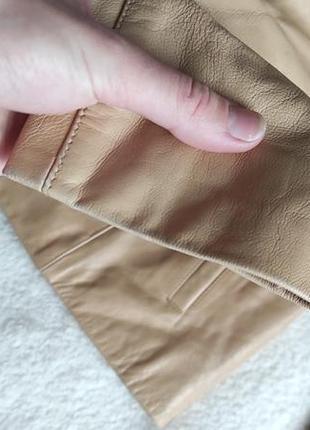 Трендовый натуральный кожаный пиджак куртка5 фото