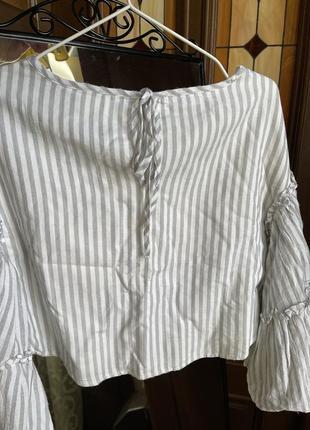 Укорочённая блуза с рукавами клёш edited2 фото