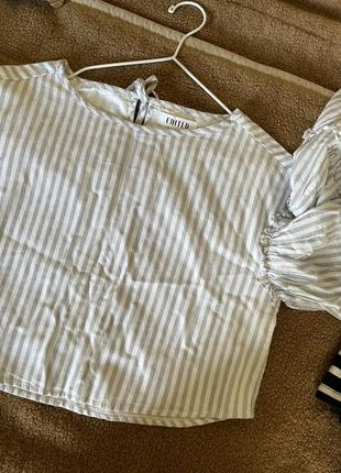Укорочённая блуза с рукавами клёш edited3 фото