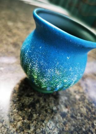 Миленькая вещица-маленькая вазочка. керамика, ручная работа.3 фото
