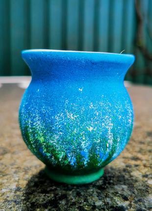 Миленькая вещица-маленькая вазочка. керамика, ручная работа.4 фото