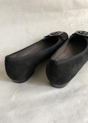 Замшевые туфли балетки5 фото